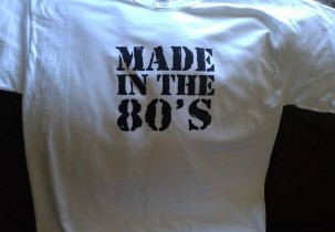 Made in the 80's screen printed t-shirt