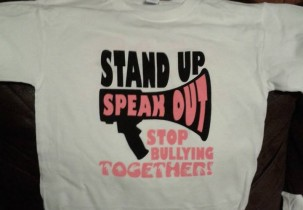 Stop Bullying Together screen printed t-shirt (Front Design)