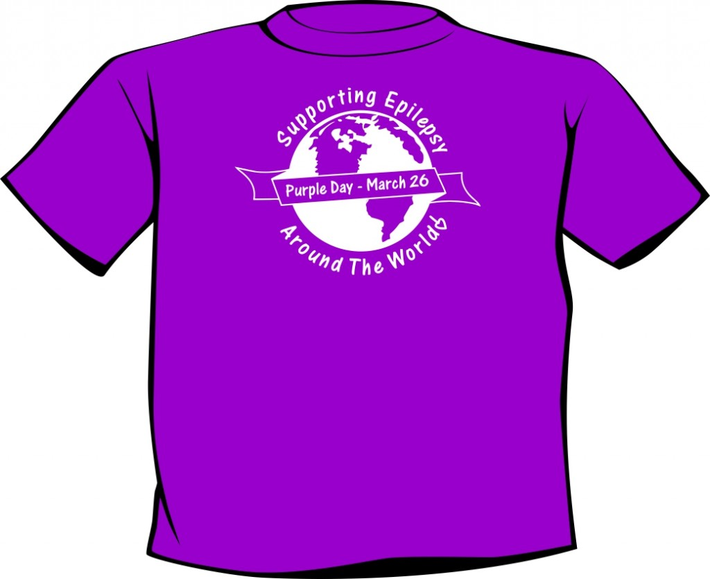 purple day screen printed shirt mockup