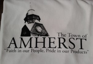 Town of Amherst Screen Printed TShirt Design 1