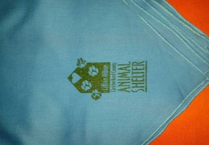 Lillian Allbon Screen Printed Bandanas Close View